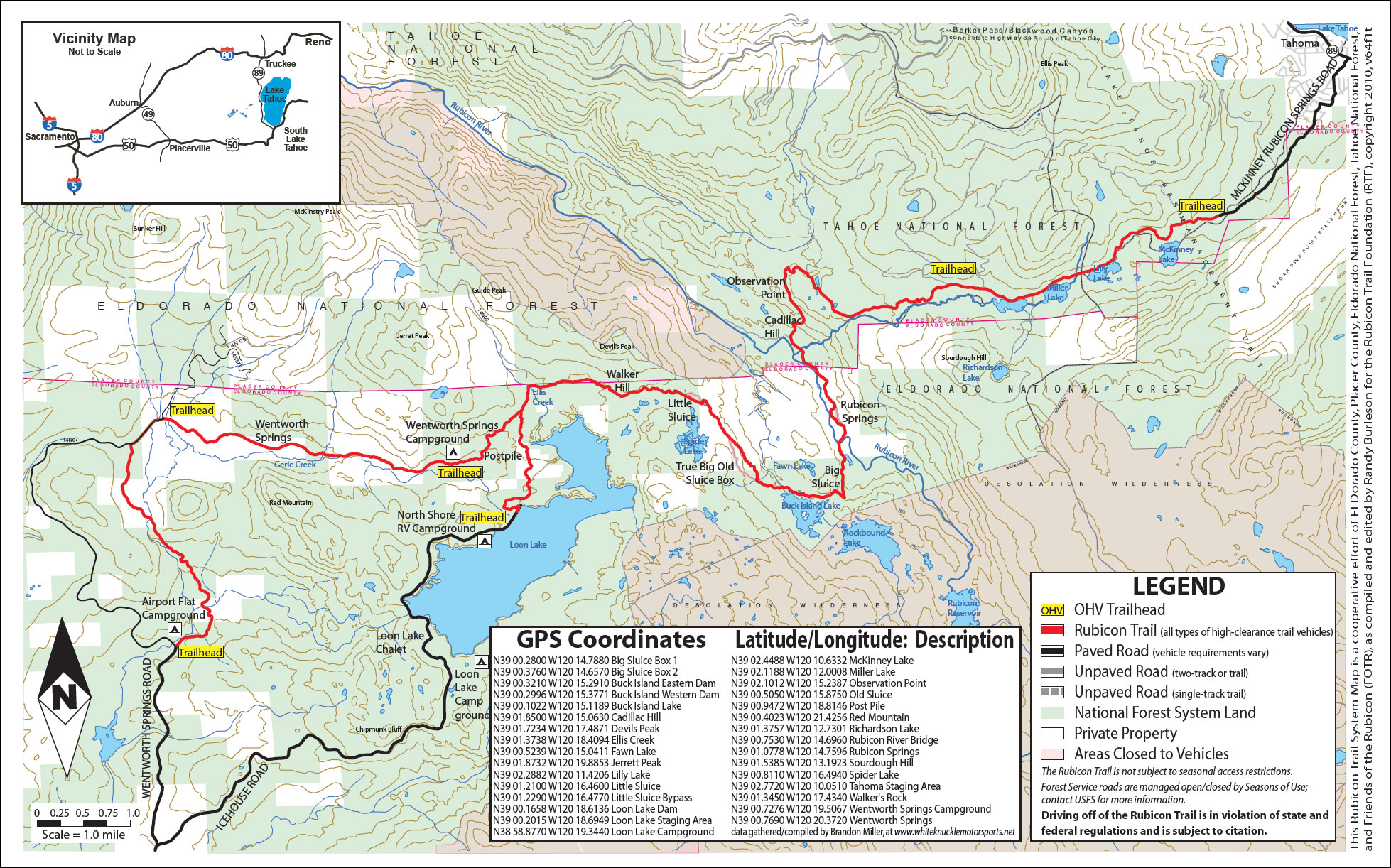 Rubicon Trail Map